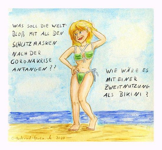 Die Idee: der Bikini aus alten Schutzmasken
