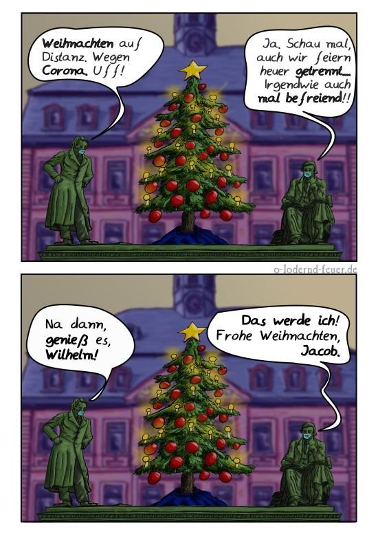 Weihnacht: die Gebrüder Grimm auf Distanz