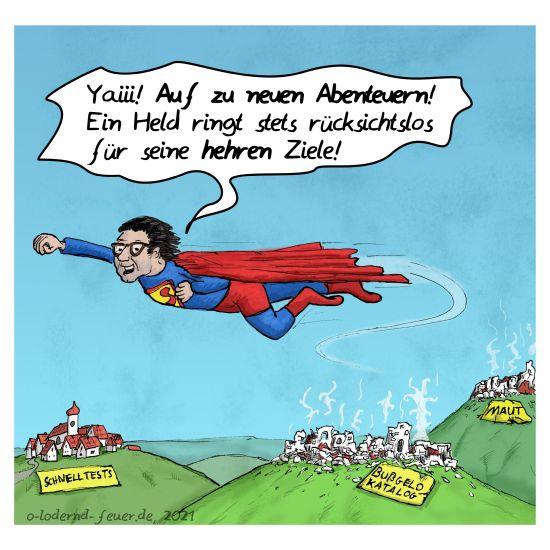 Superscheuer im Anflug